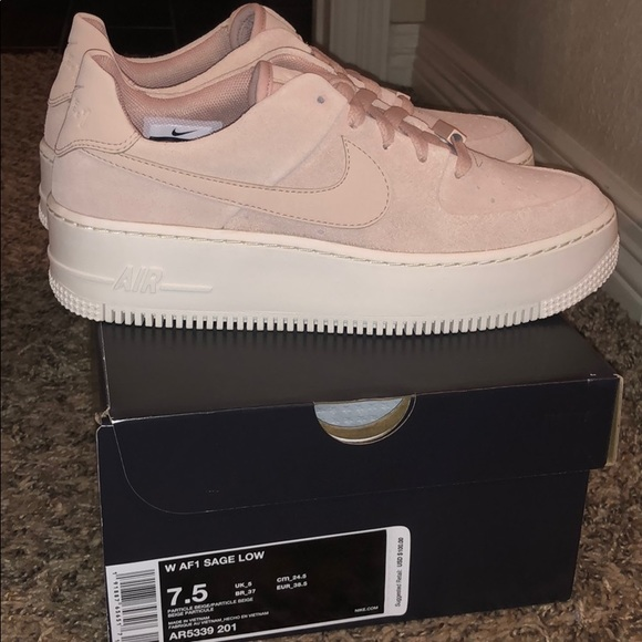 9b198a8f30bf Nike Shoes   Air Force 1 Sage Low In Beige   Poshmark